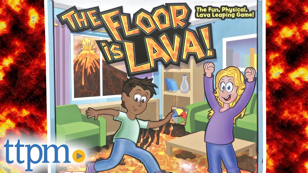 The Floor is Lava! HOT Fun Interactive Board Game for Kids and Adults Ages 5+