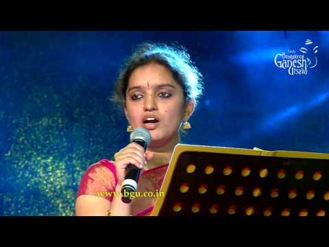 Ms. Anaga singing Venkatachala Nilayam @ 54th Bengaluru Ganesh Utsava