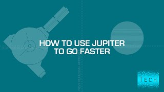 How does Jupiter make space things go faster? (or, What