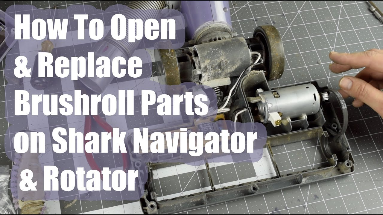 How To Open A Shark Navigator  Rotator Brush Roll Motor