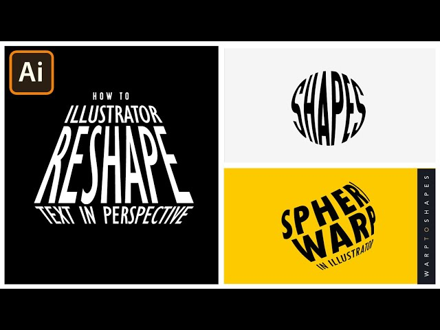 Warp Text in Adobe Illustrator | Make To Top Object | Graphic design