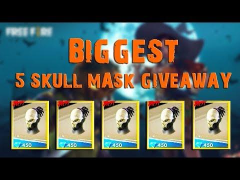 biggest giveaway 5 skull mask in garena free fire #hindi #streaming #FREEFIRE #BATTLEGROUND9