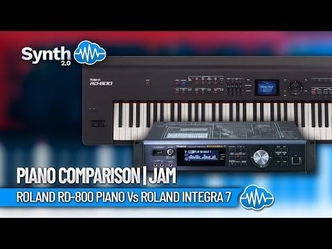 roland rd 800 piano vs roland integra 7 piano comparison jam amico studio youtube. Black Bedroom Furniture Sets. Home Design Ideas