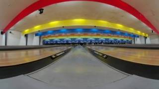 Bowling 360°! Virtual Reality Bowling with Real Bowling Alley Sounds!