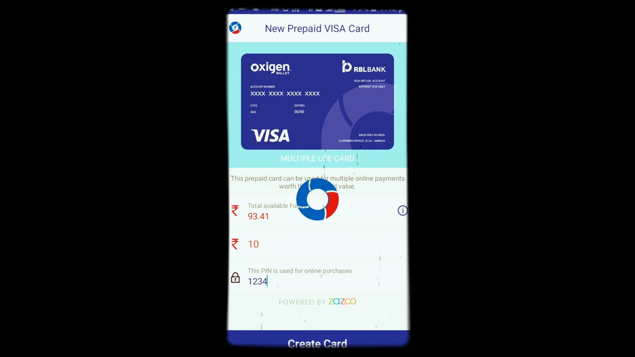 how to create virtual card from oxigen wallet youtube
