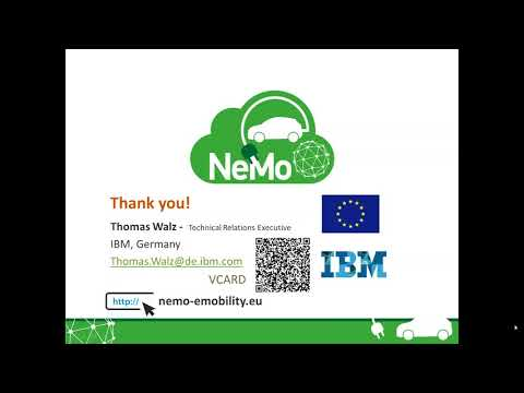 NeMo Webinar on Service Creation in Electromobility Networks (1st February 2018)