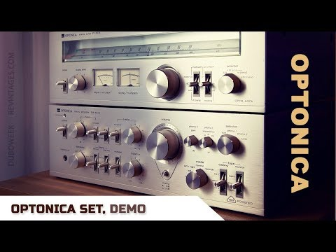 SHARP OPTONICA SET Amplifier and Tuner Demo