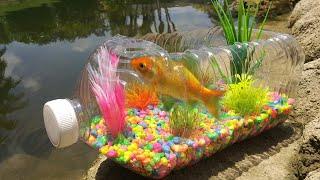 DIY PLASTIC BOTTLE FISH AQUARIUM!