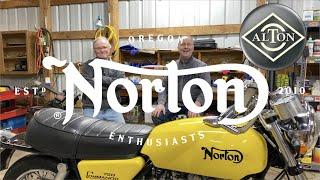 norton Commando Alton Starter Motor Project - Part 2 of 6 - Preparing the bike