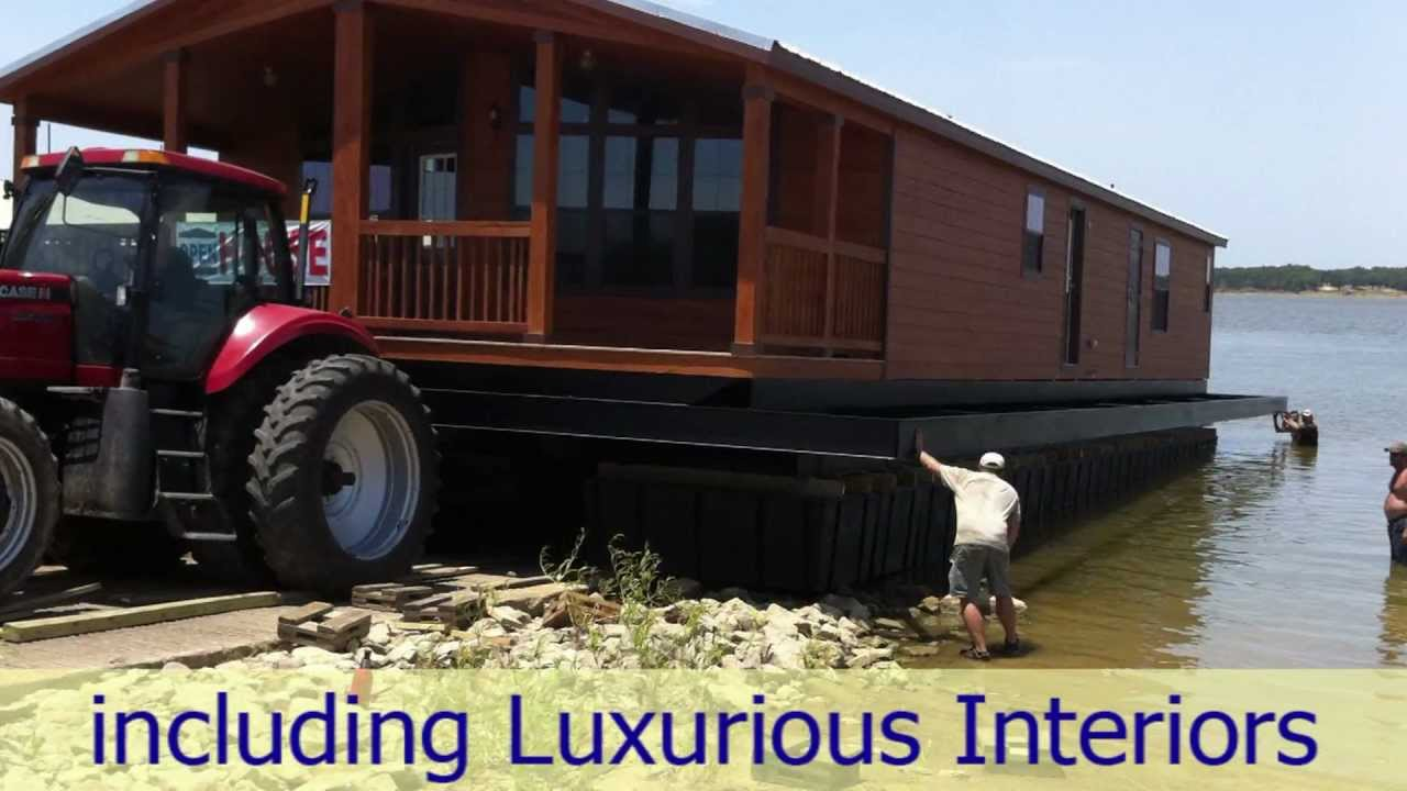 Floating Vacation Homes Or Dockominiums For Sale On Lake Texoma Near Dallas  In Pottsboro, Texas   YouTube