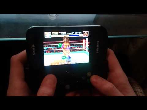 Samsung Epic 4g with Game Gripper and Yoobao Extended Battery playing SNES