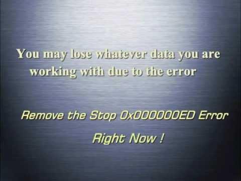 Stop 0x000000ED Error - Windows Blue Screen Stop Error Fix