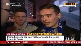 Reação dos adeptos após FC Porto 0-1 Estoril