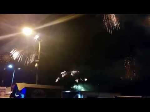 New Year 2015 Fireworks at Manila Bay