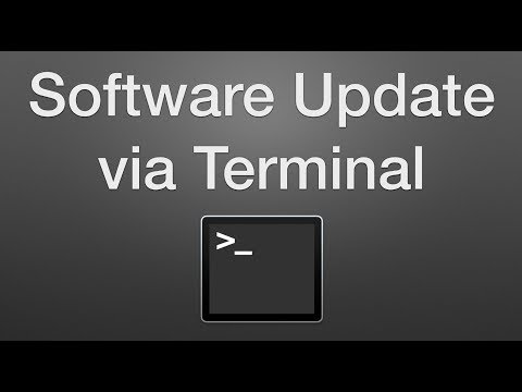 How to Use Terminal to Run Software Updates on a Mac