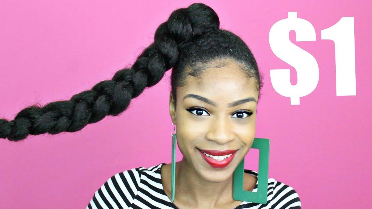 jumbo braid ponytail with kanekalon hair► natural hair protective styles