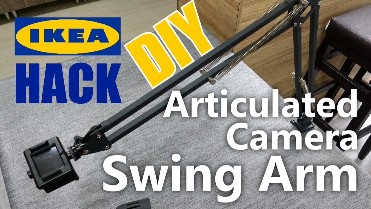 Articulated Camera Swing Arm Ikea Hack How To Youtube