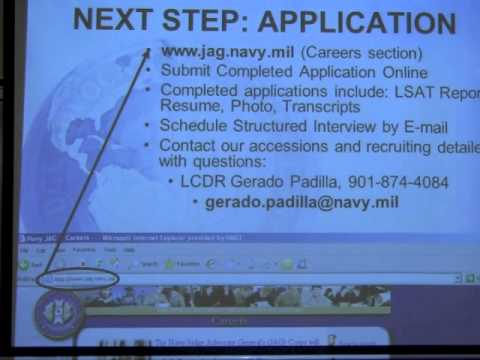 Navy Jag Corps Info Session