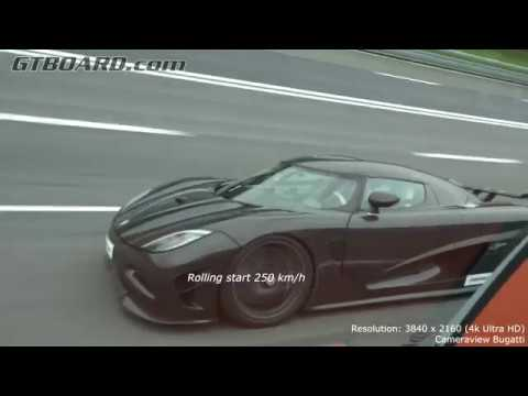 [4k] Koenigsegg Agera R vs Bugatti Veyron 16.4 Grand Sport Vitesse FROM 250 km/h (155 mph) and UP!