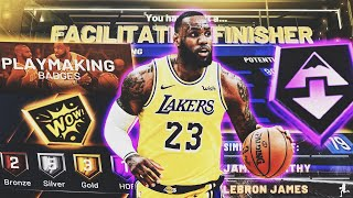 ONE Of A KIND LeBron James Build Is INSANE In NBA 2K20! 99 OVR FACILITATING FINISHER! BEST SF BUILD!