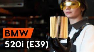 Hvordan udskiftes oljefilter og motorolje til BMW 520i (E39) [GUIDE AUTODOC]