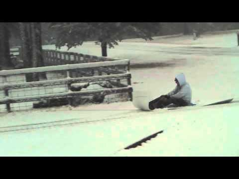 Winona, texas kaleb  in the snow