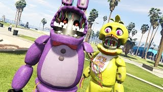 withered animatronics in gta 5 gta 5 mods fnaf funny moments