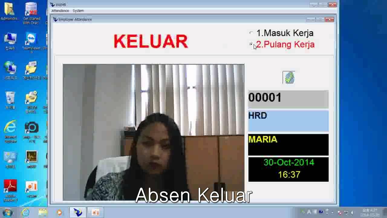 digitalpersona fingerprint absensi capture photo