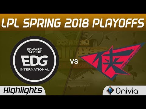 EDG vs RW Highlights Game 4 LPL Spring 2018 Playoffs Edward Gaming vs Rogue Warrior by Onivia