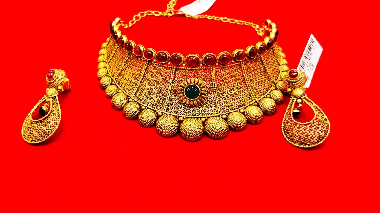 Goldjewellerydesigns Kalyan Jewellery Design 2019 With Weight Details Choker Model With Weight Youtube