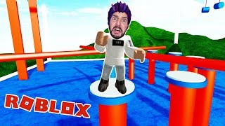 Roblox: ULTIMATE WIPEOUT OBBY! DOES KAAN CREATE THE WIPEOUT CHALLENGE?
