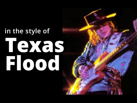 STEVIE RAY VAUGHAN 'Texas Flood' style in G Major - SAD Blues GUITAR Solo BACKING TRACK