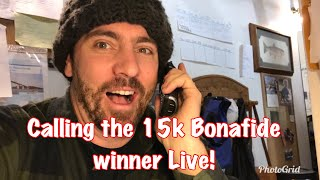 Surprising our 15k Giveaway Winner with a Bonafide RS 117 Live on the phone