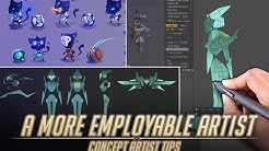 How to be a more EMPLOYABLE artist in Video Games - Concept Artist tips.