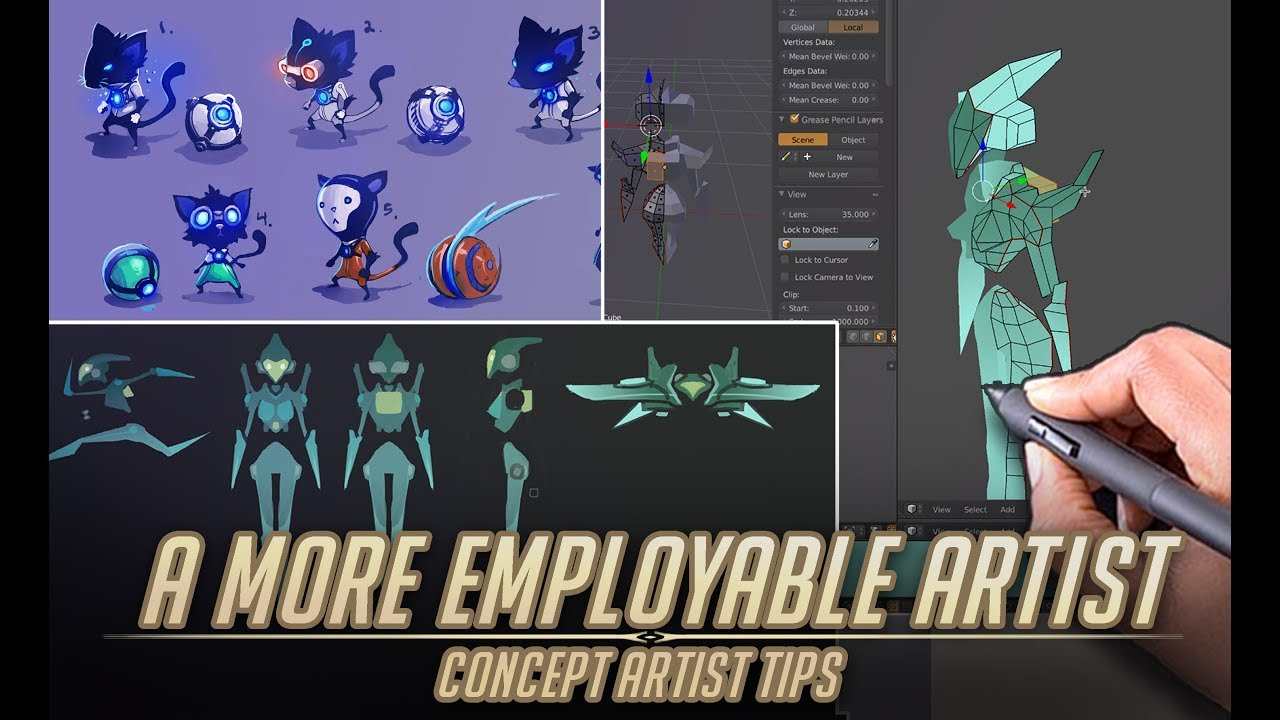 How to be a more EMPLOYABLE artist in Video Games – Concept Artist tips.