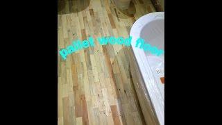 "Pallet wood floor ""The Finish """