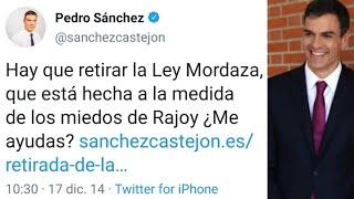LA LEY MORDAZA QUE PEDRO SÁNCHEZ, IRENE MONTERO Y PABLO IGLESIAS QUERÍAN DEROGAR LA VAN A ENDURECER.