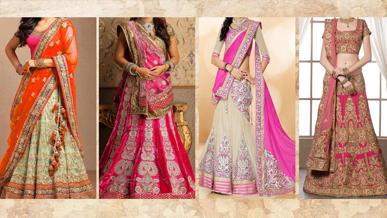 5 Gorgeous Ways To Wear Lehenga Saree & Makeup | How To Wear Lehenga In Different Style to Look