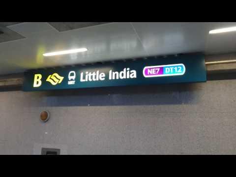 Singapore, Little India MRT station, OTIS elevator