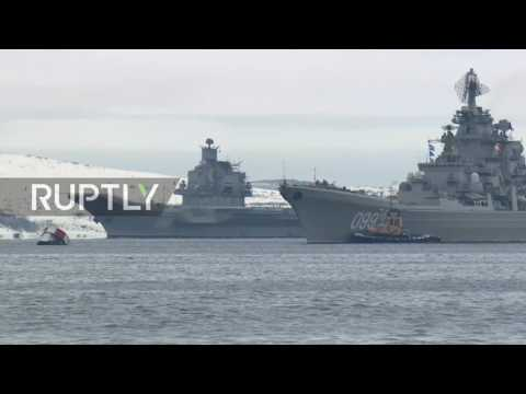Russia: Aircraft carrier Admiral Kuznetsov docks at Severomorsk following Syria mission