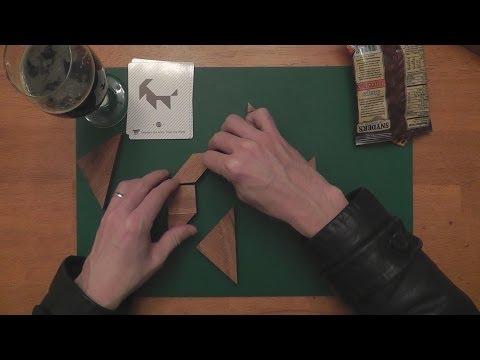 (ASMR) Tangram Puzzle Solving