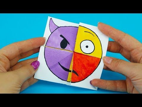 Emoji Diy Paper Magic Card | Face Changer Tutorial For Kids