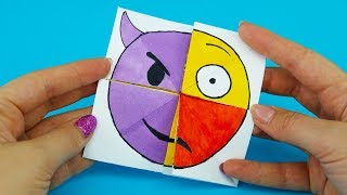Emoji Diy Paper Magic Card | Face Changer Tutorial