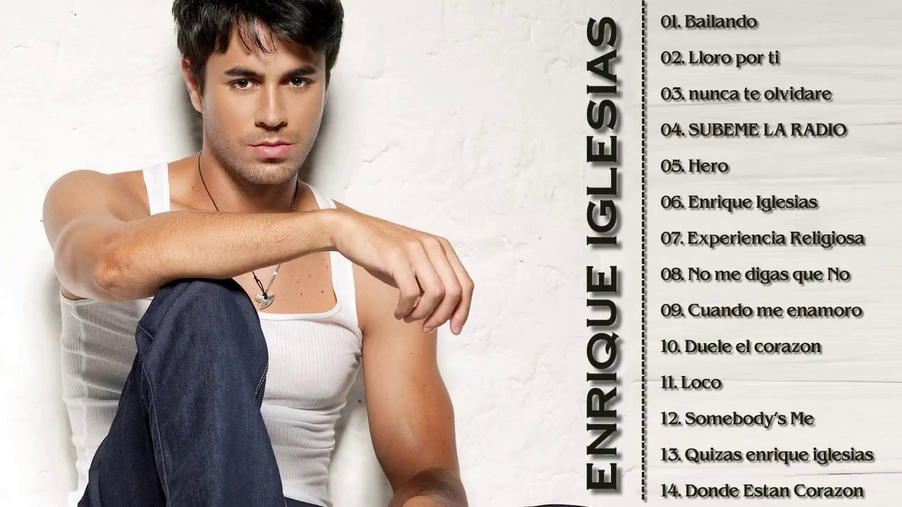Enrique Iglesias Greatest Hits Full Album Collection Cover