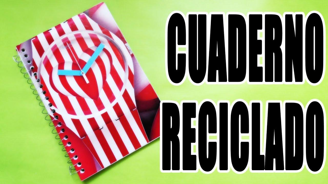 C mo reciclar un cuaderno youtube for Como reciclar un placard