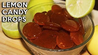 Homemade Lemon Candy Drops | How to make Lemon ROCK CANDY | Lemon Drops Recipe | Candy Making