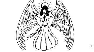 Как нарисовать ангела, How to draw angel(Рисуем ангела. Это не самый простой рисунок, поэтому к его изучению нужно подойти предельно внимательно., 2015-01-07T17:01:30.000Z)