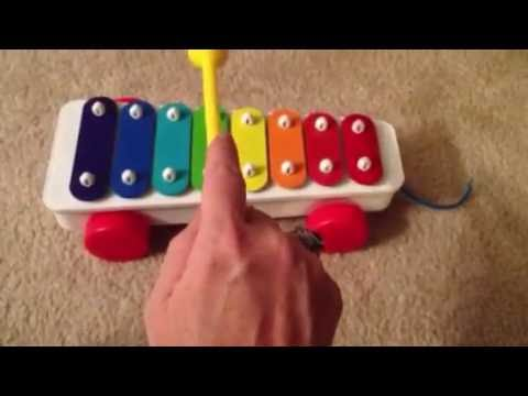 How to play Happy Birthday To You song On Fisher Price xylophone