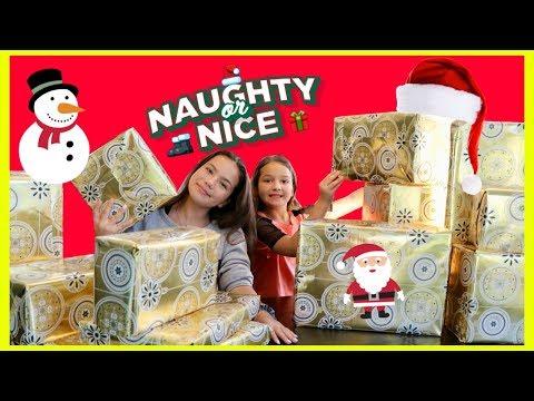 NAUGHTY vs NICE CHRISTMAS PRESENT CHALLENGE | SISTER FOREVER