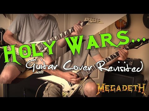 Megadeth - Holy Wars... The Punishment Due Guitar Cover (Original Drum & Bass Used)